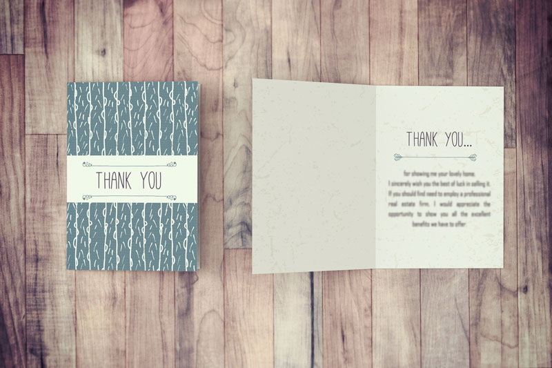 Download this Thank You Card and send it to clients