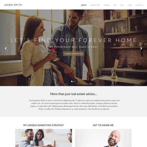 Katana REALTOR® Website Mockup 1