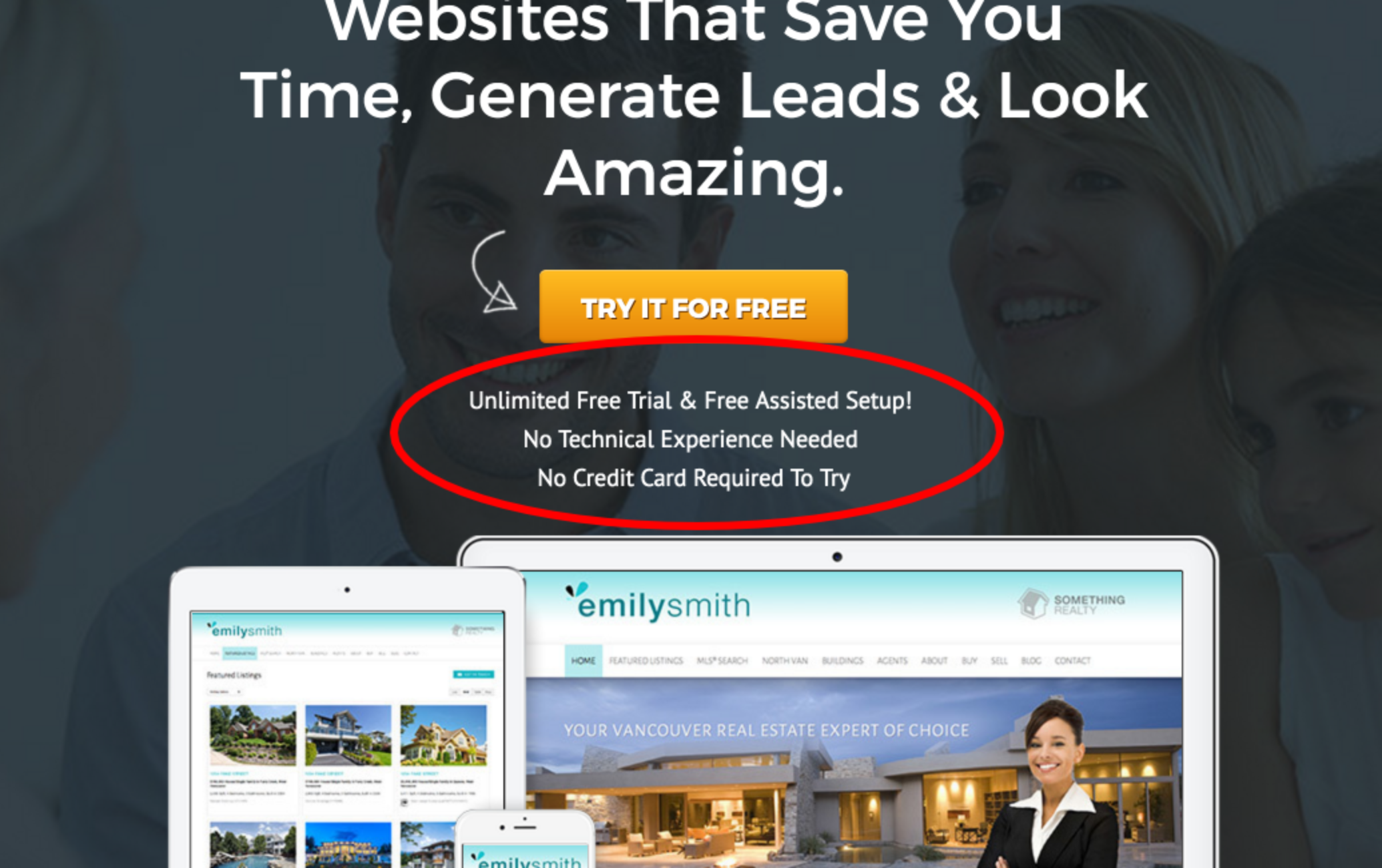 real estate landing page - unique selling proposition