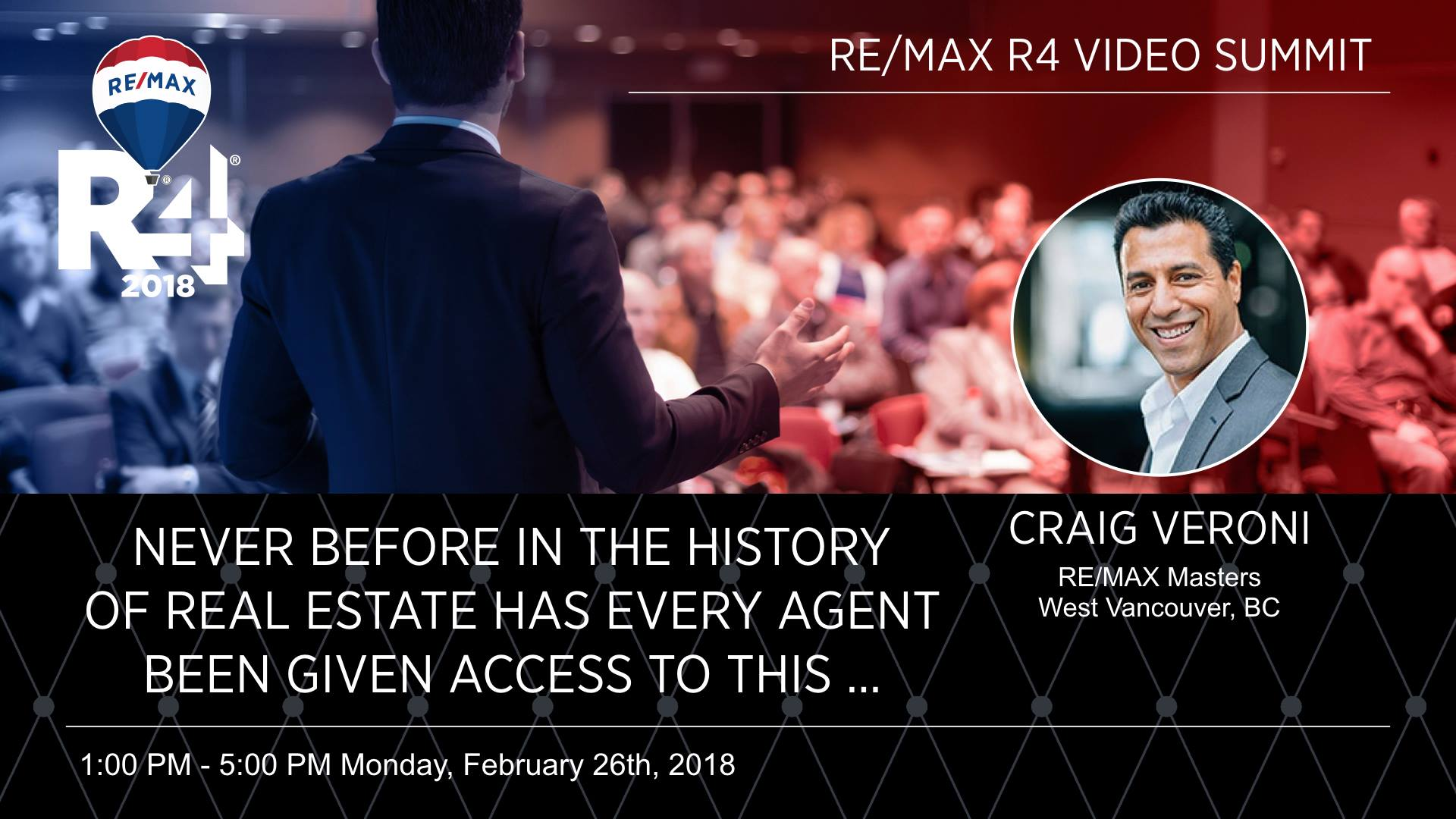 Craig Veroni RE/MAX R4 Summit - Vegas 2018