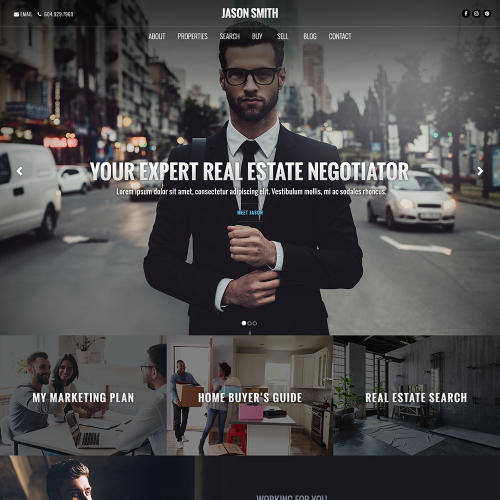 Katana REALTOR Website Mockup 3