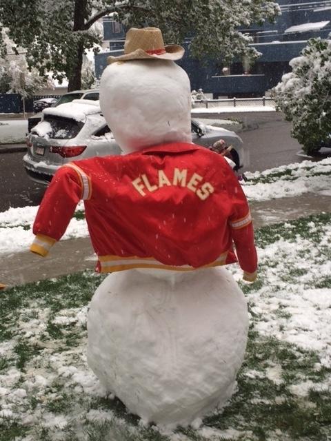 Calgary Flames Snowman