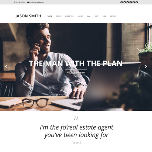 Katana REALTOR Website Mockup 7