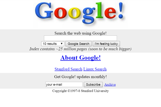 Original Google - circa 1997