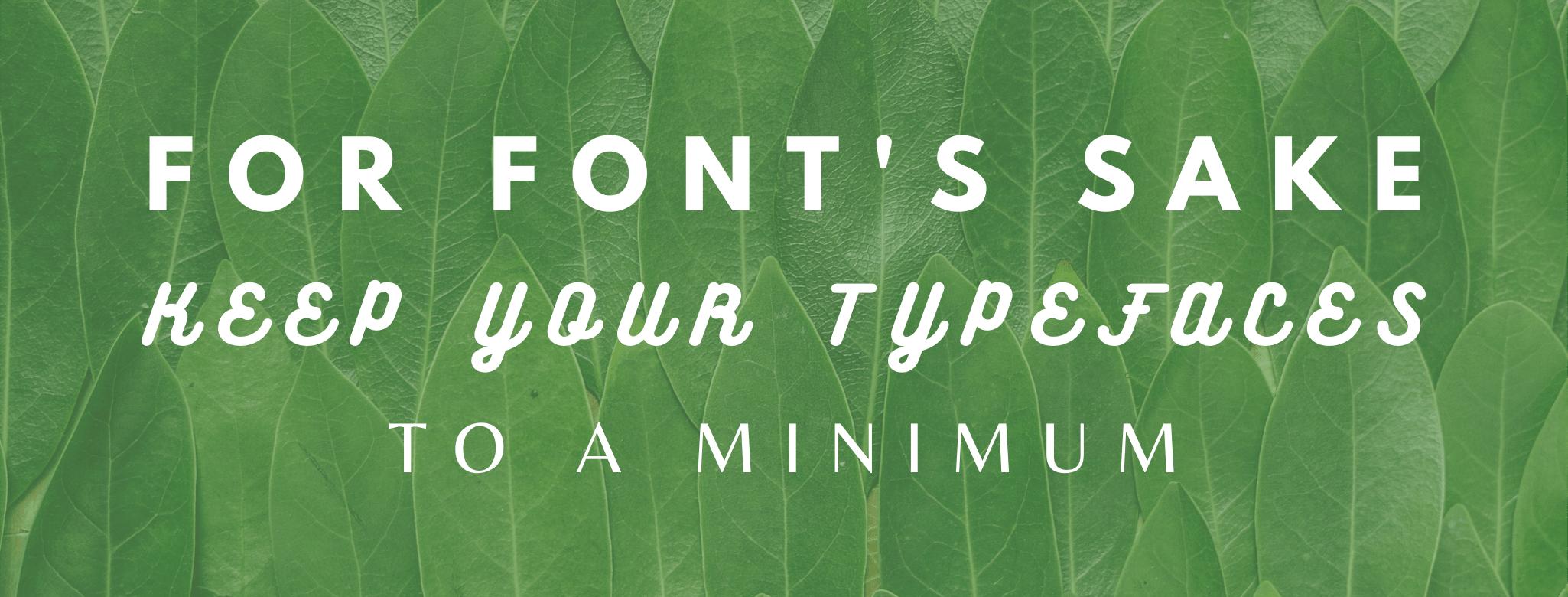For Font's Sake...