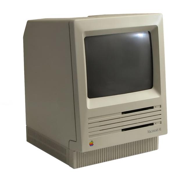 Oldschool Macintosh Desktop Computer