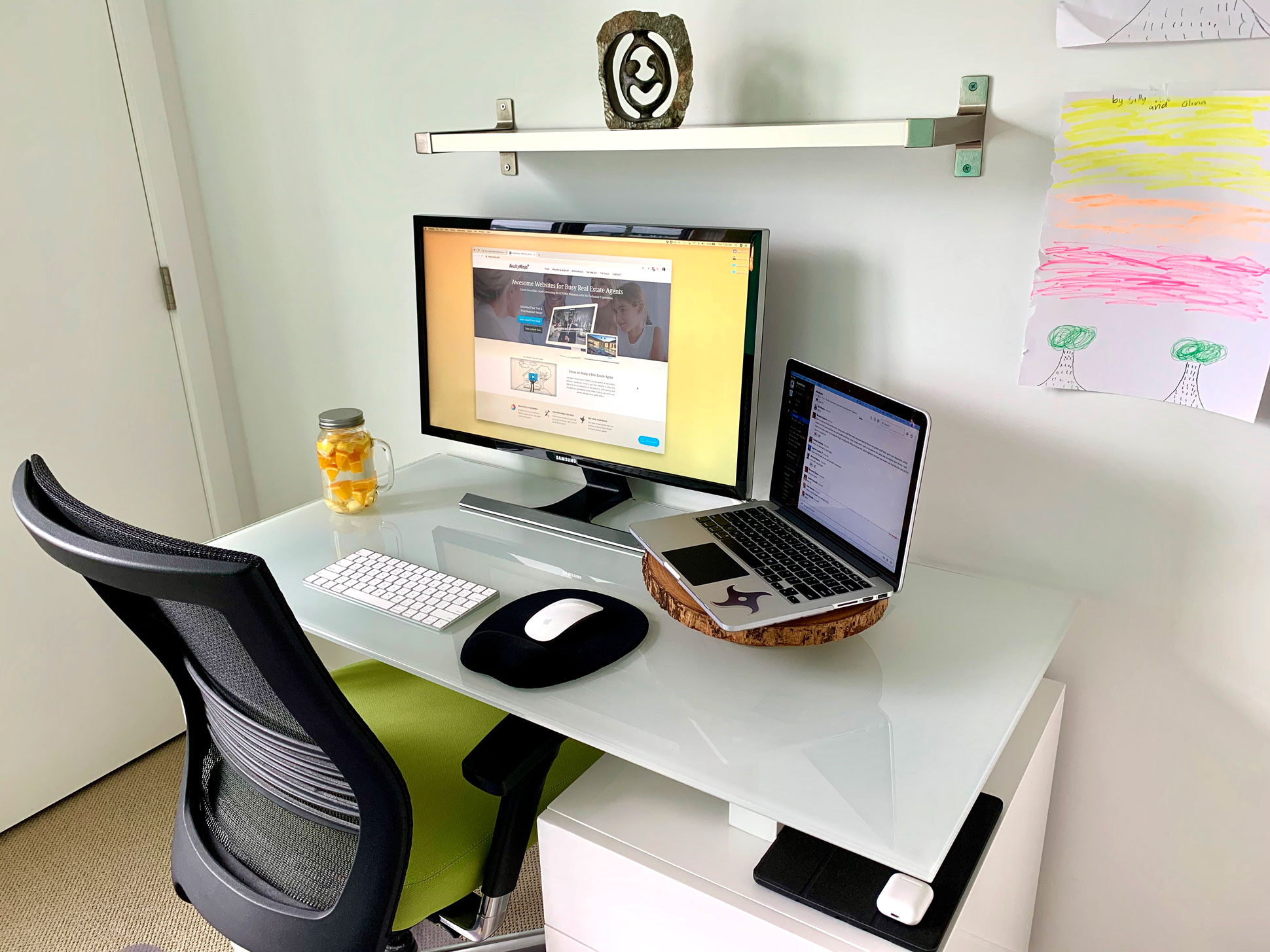 Ramin Sabour from RealtyNinja - home office setup