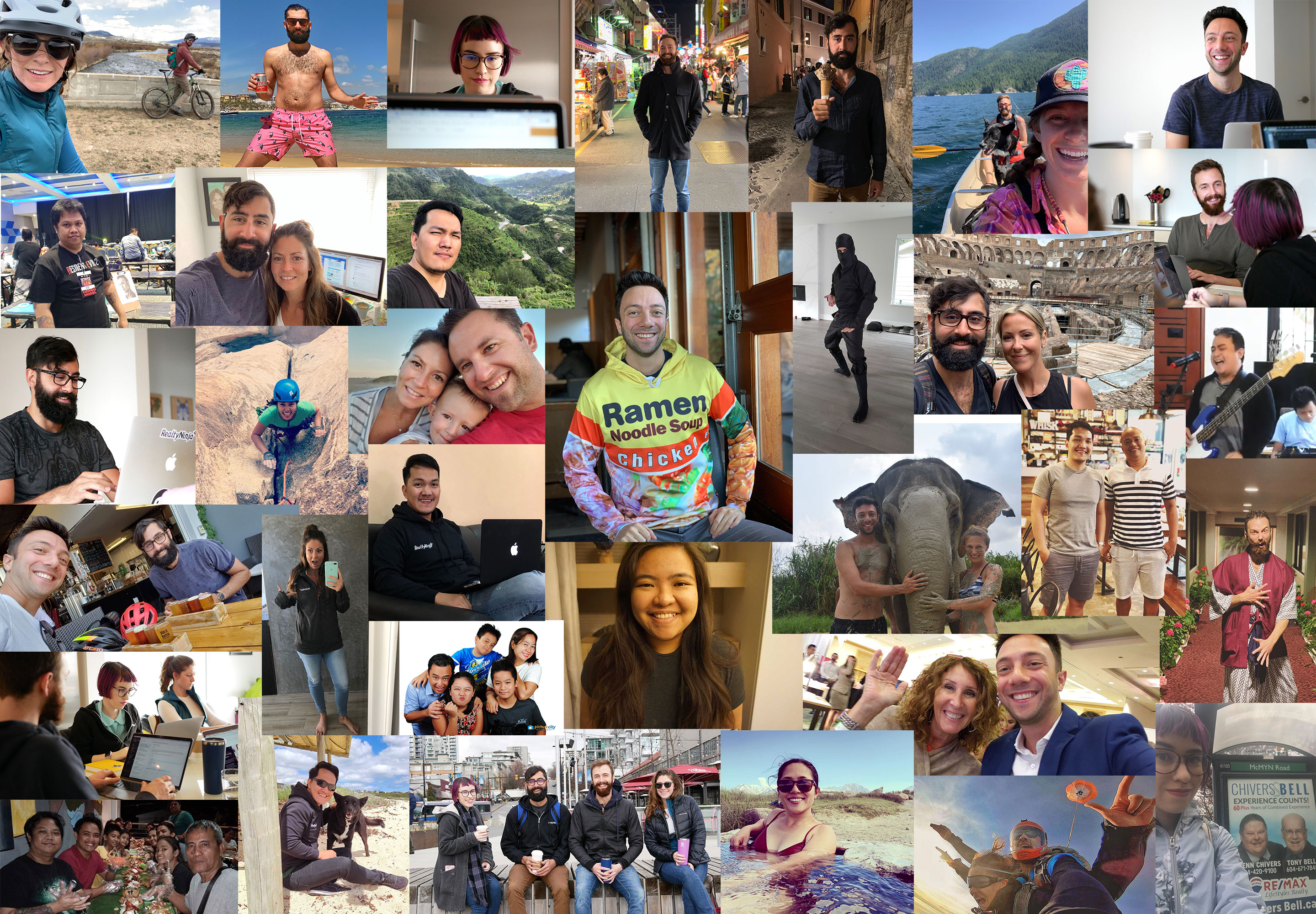 The RealtyNinja Team Collage for 2019