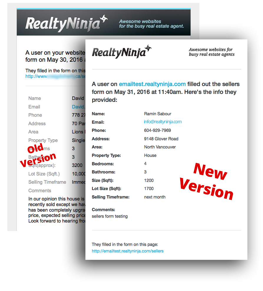 Responsive Real Estate Website Lead Emails