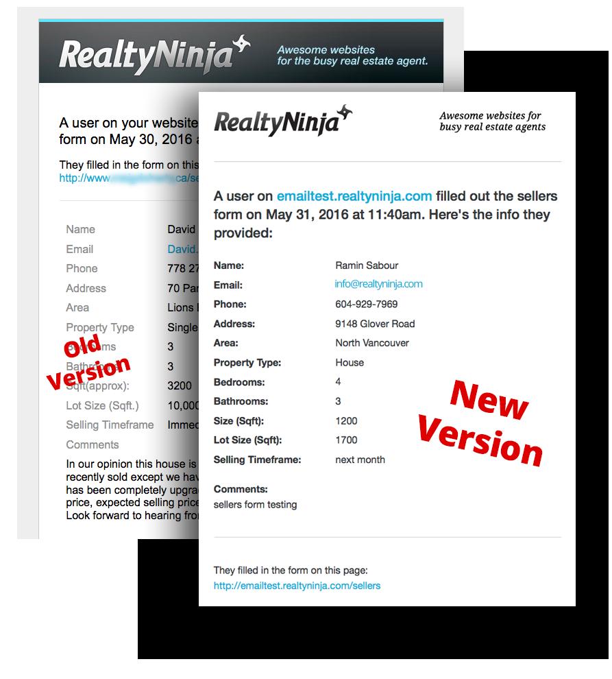 Responsive Real Estate Website Lead Emails