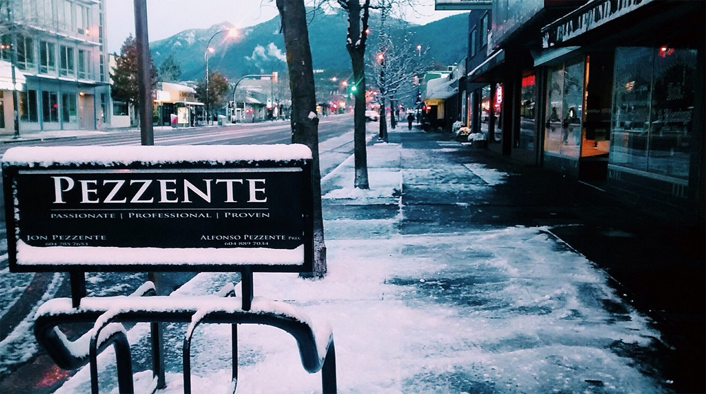 Pezzente Real Estate Sign on Lonsdale