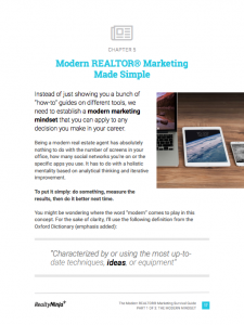 The Modern REALTOR Marketing Survival Guide - Chapter 5 (Screenshot)