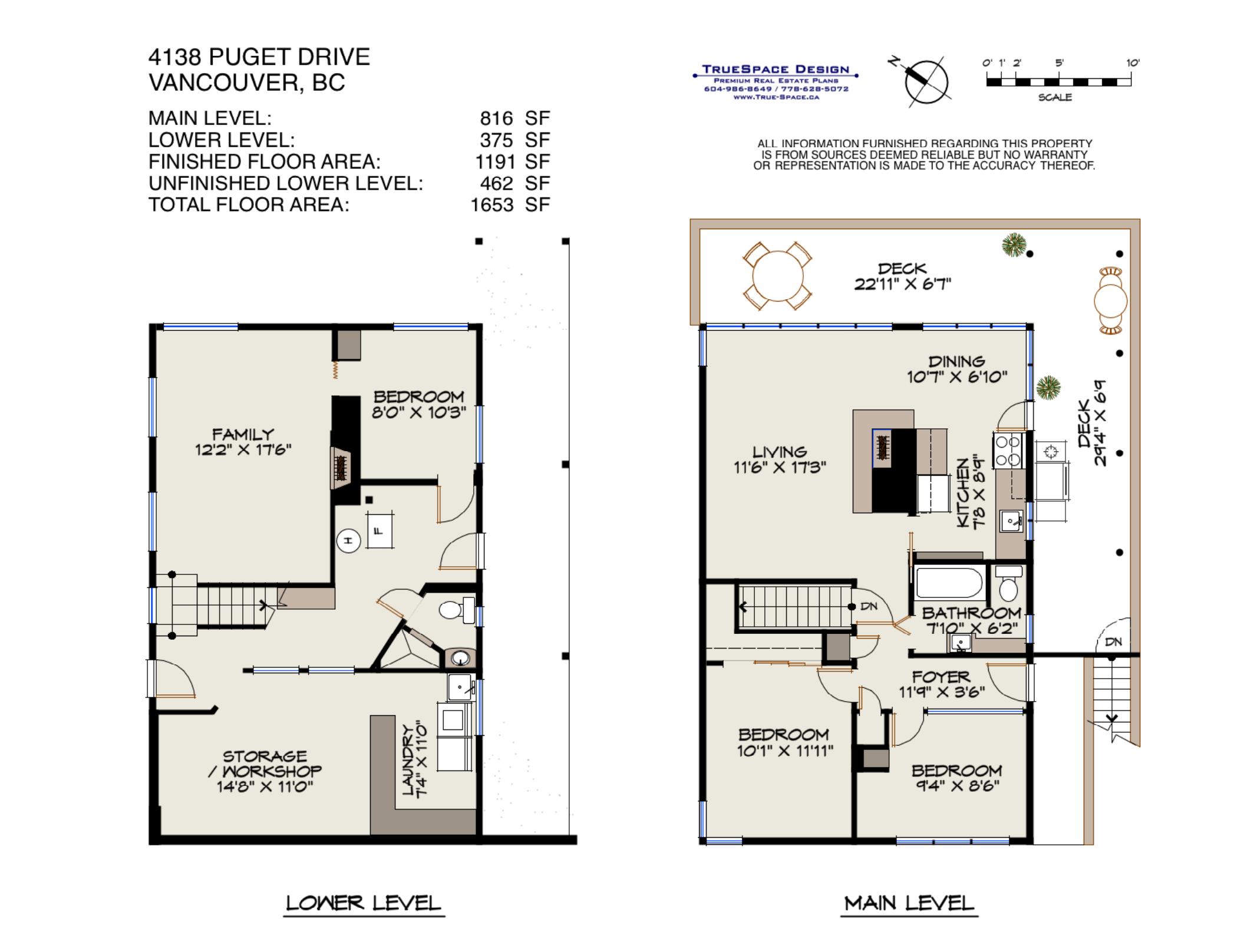 Kate Miller's 4138 Puget Drive Floor Plan