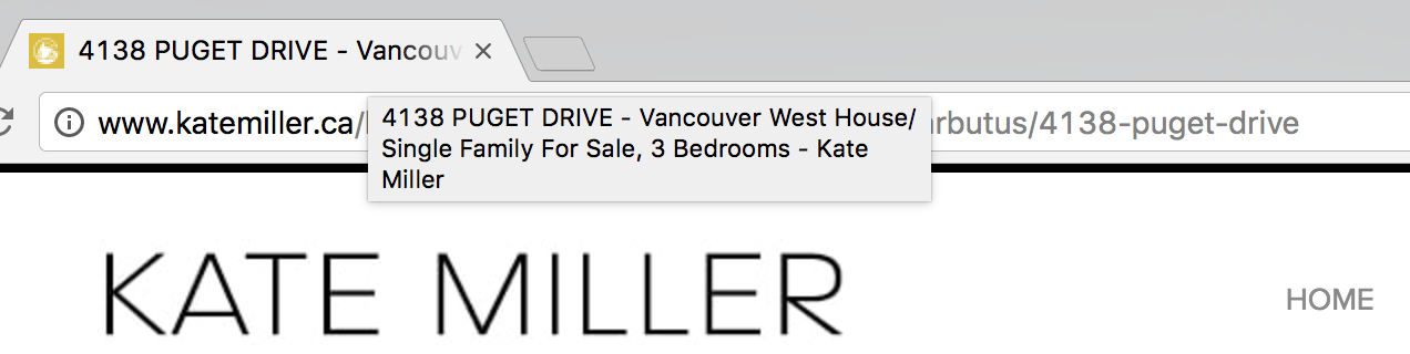 Kate Miller 4138 Puget Drive Listing - Page Title