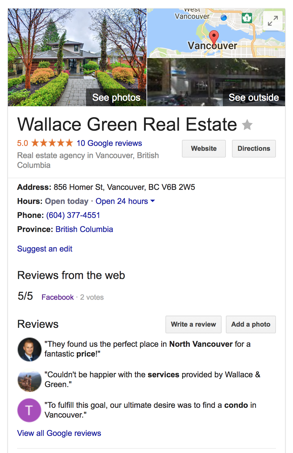 Wallace Green Google Profile