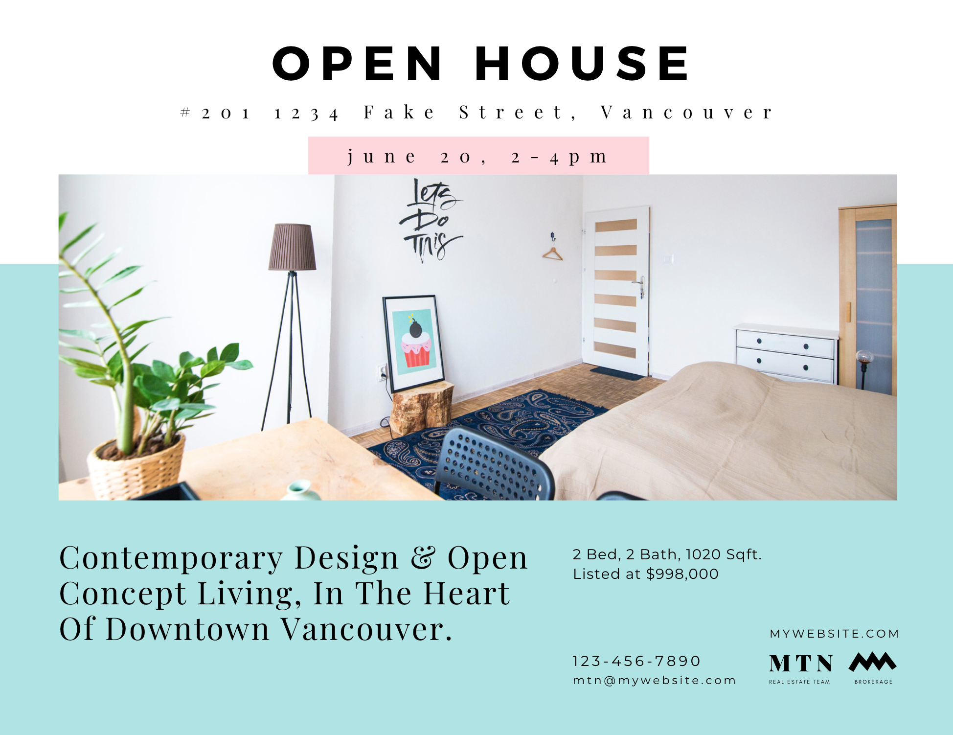 Canva Open House Invitation