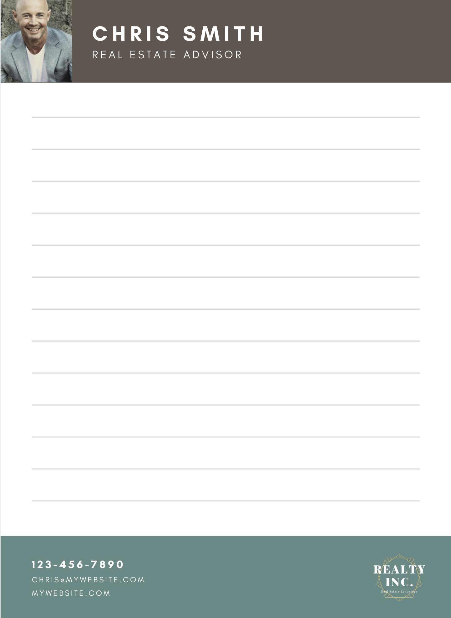 Realtor Notepad Canva Template