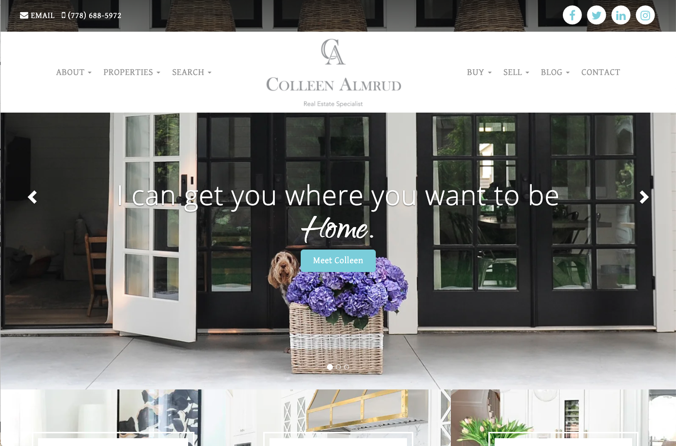 Colleen Almrud real estate website