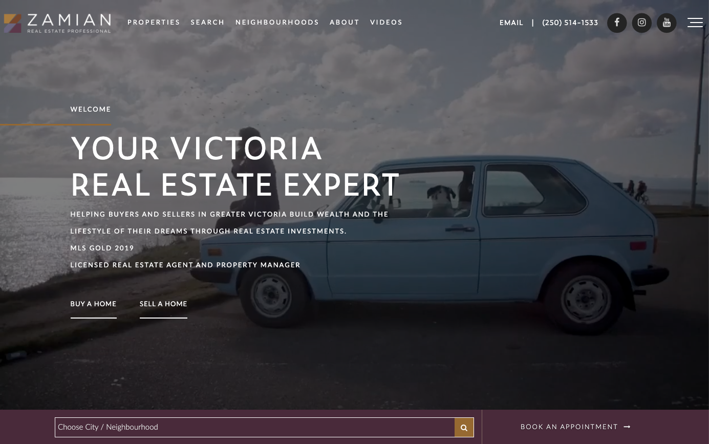 Zamian Parsons real estate website