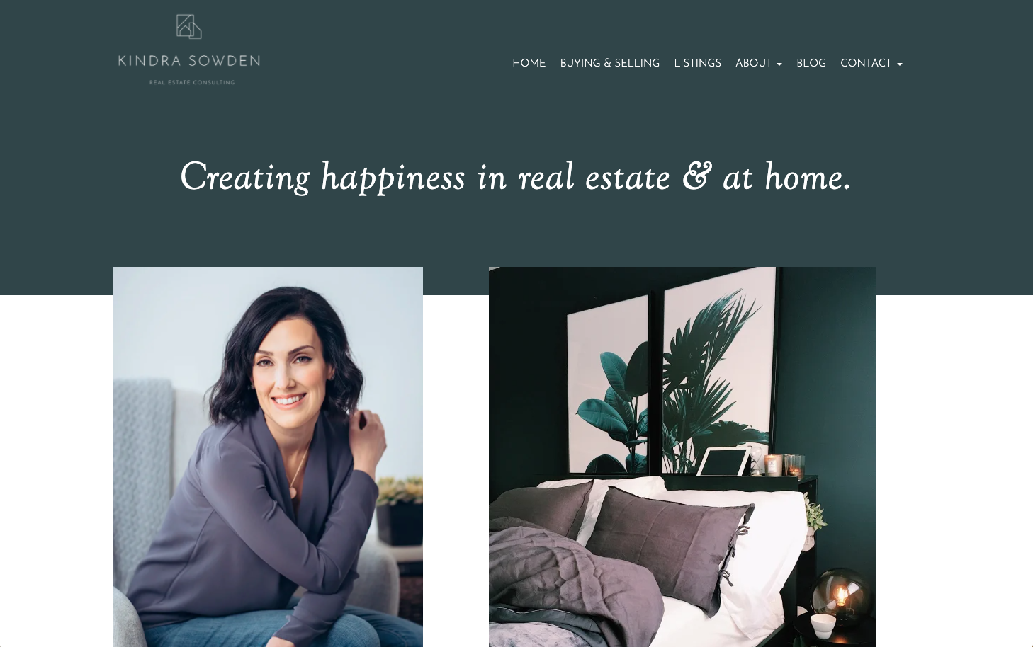 Kindra Sowden real estate website