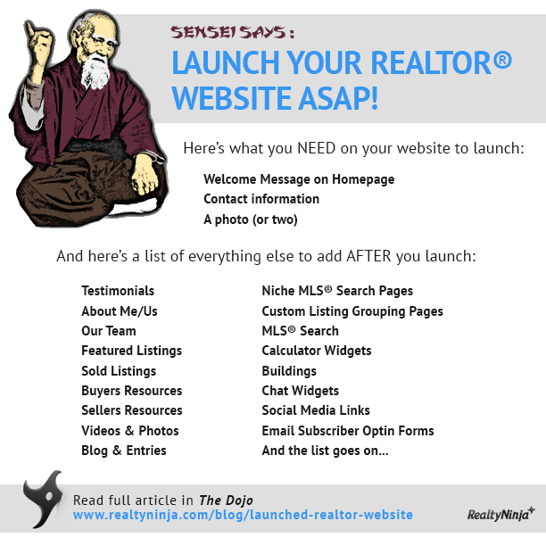 Launch your REALTOR® Website ASAP