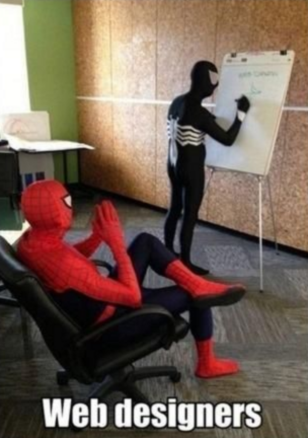 Spider Man & Venom Web Design Meme