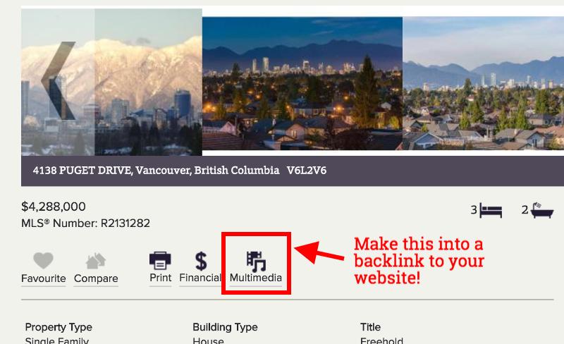 Get backlinks from thousands of real estate websites