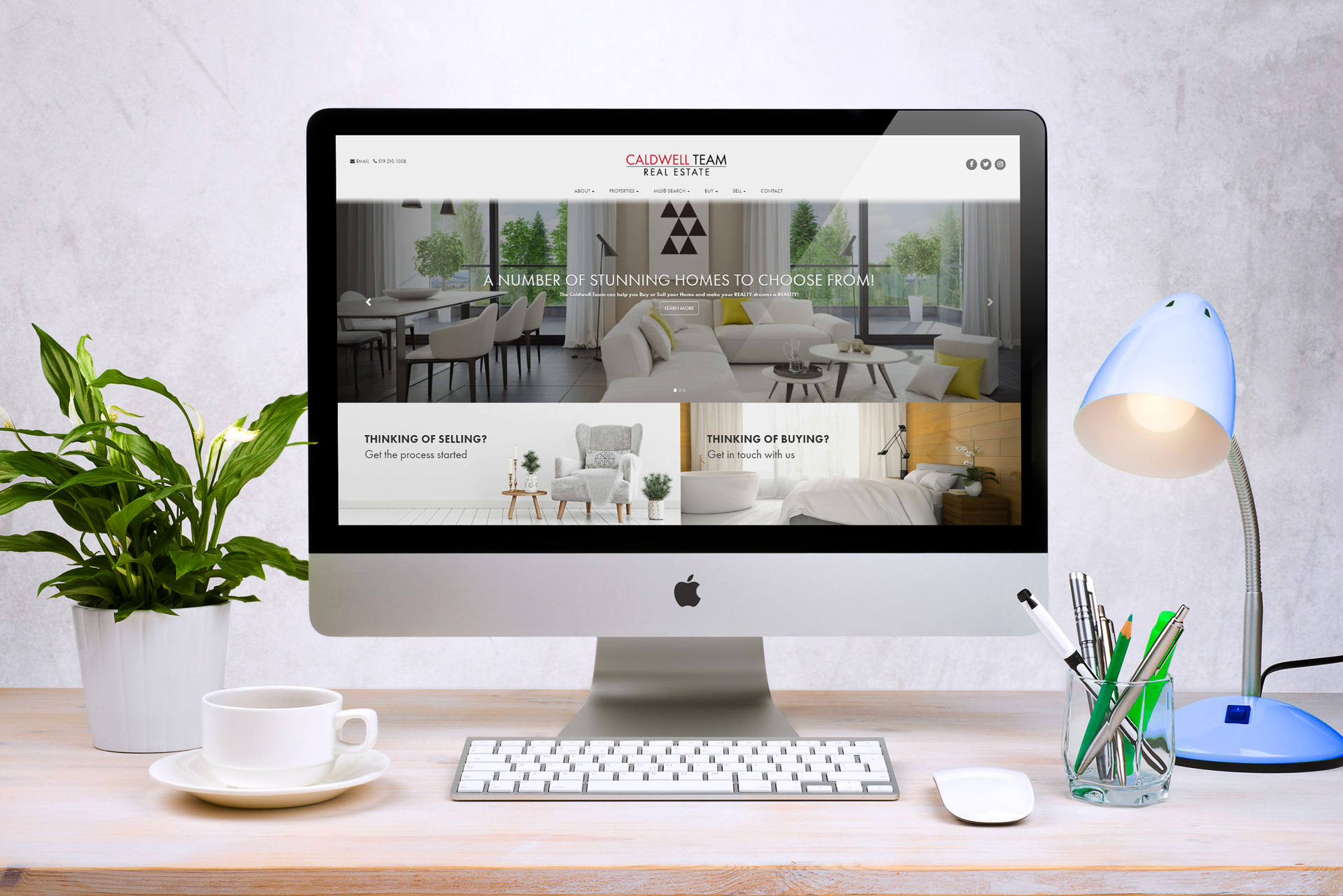 Caldwell Team - Real Estate Website with Design Customization by RealtyNinja