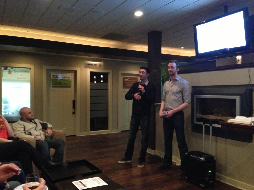 Ramin & Casimir at a Brokerage Presentation, talking about RealtyNinja in 2010