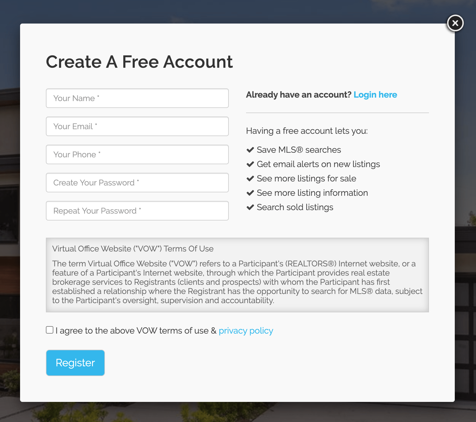 create-vow-account