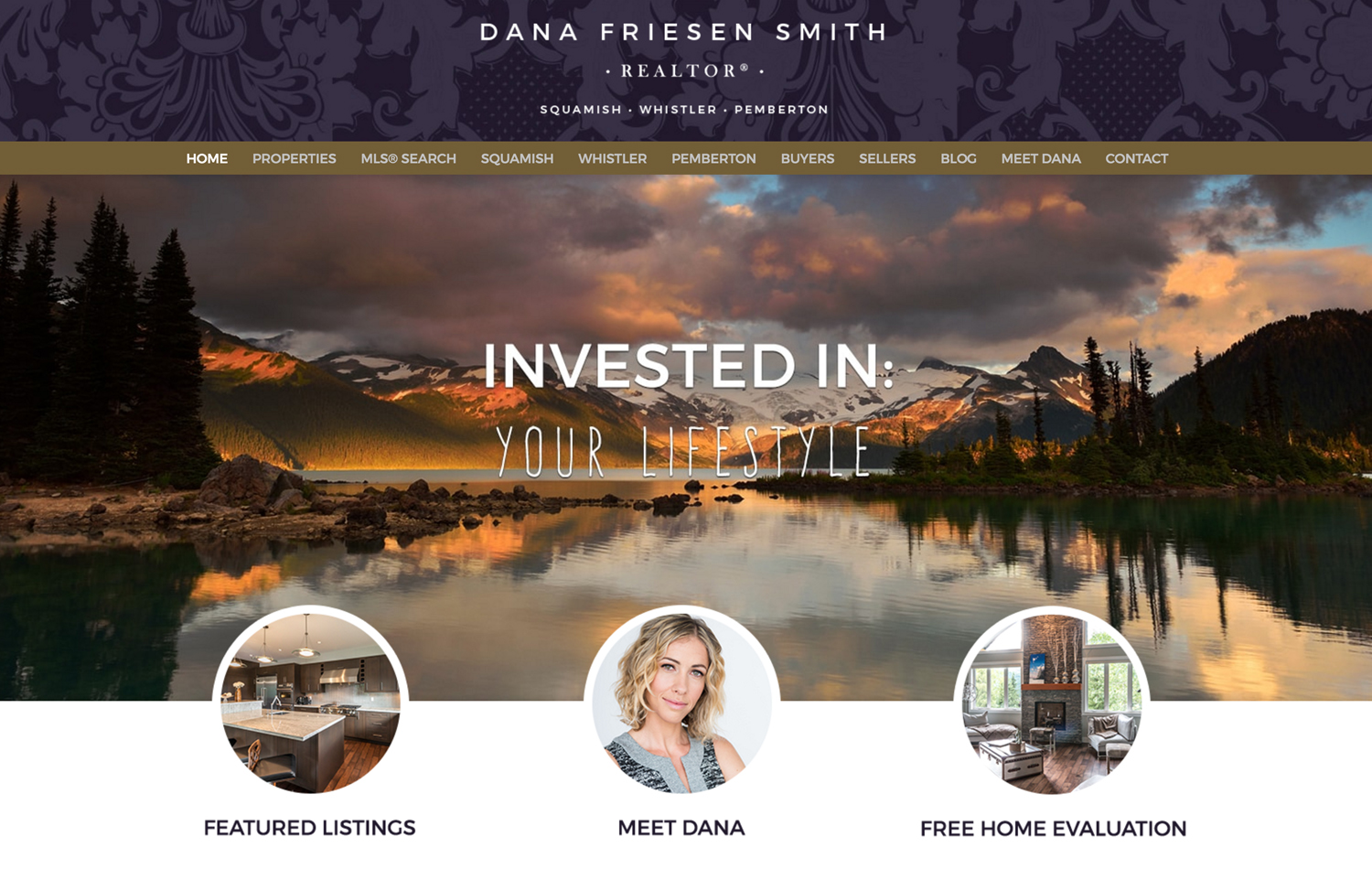 dana friesen smith real estate website screenshot