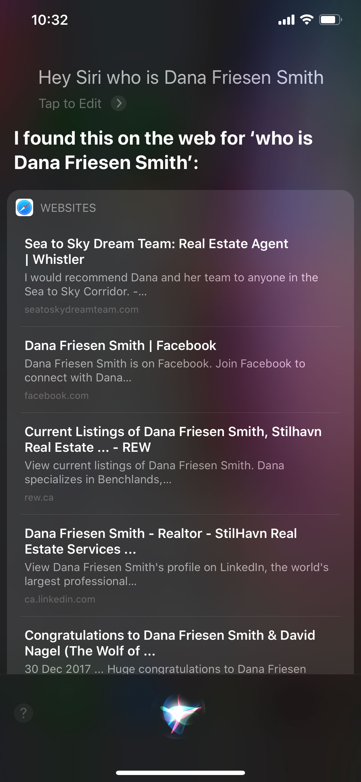 Voice Search - Who is Realtor Dana Friesen Smith