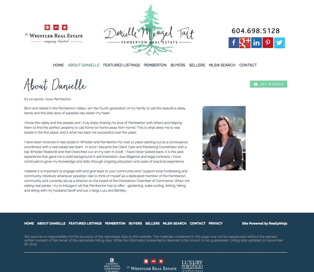 About Danielle - Danielle Menzel Tait's Website