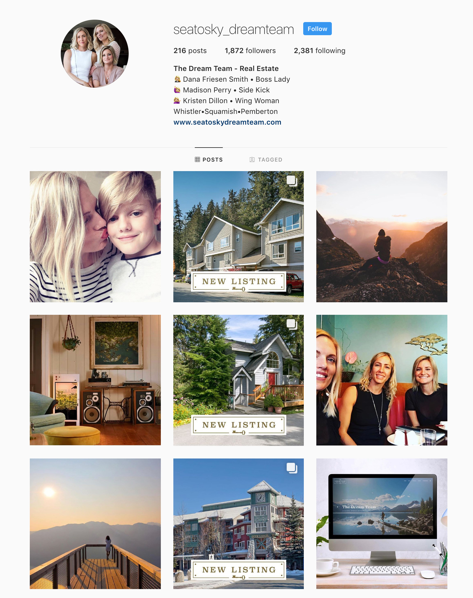 The Sea to Sky Dream Team's Awesome Instagram Feed