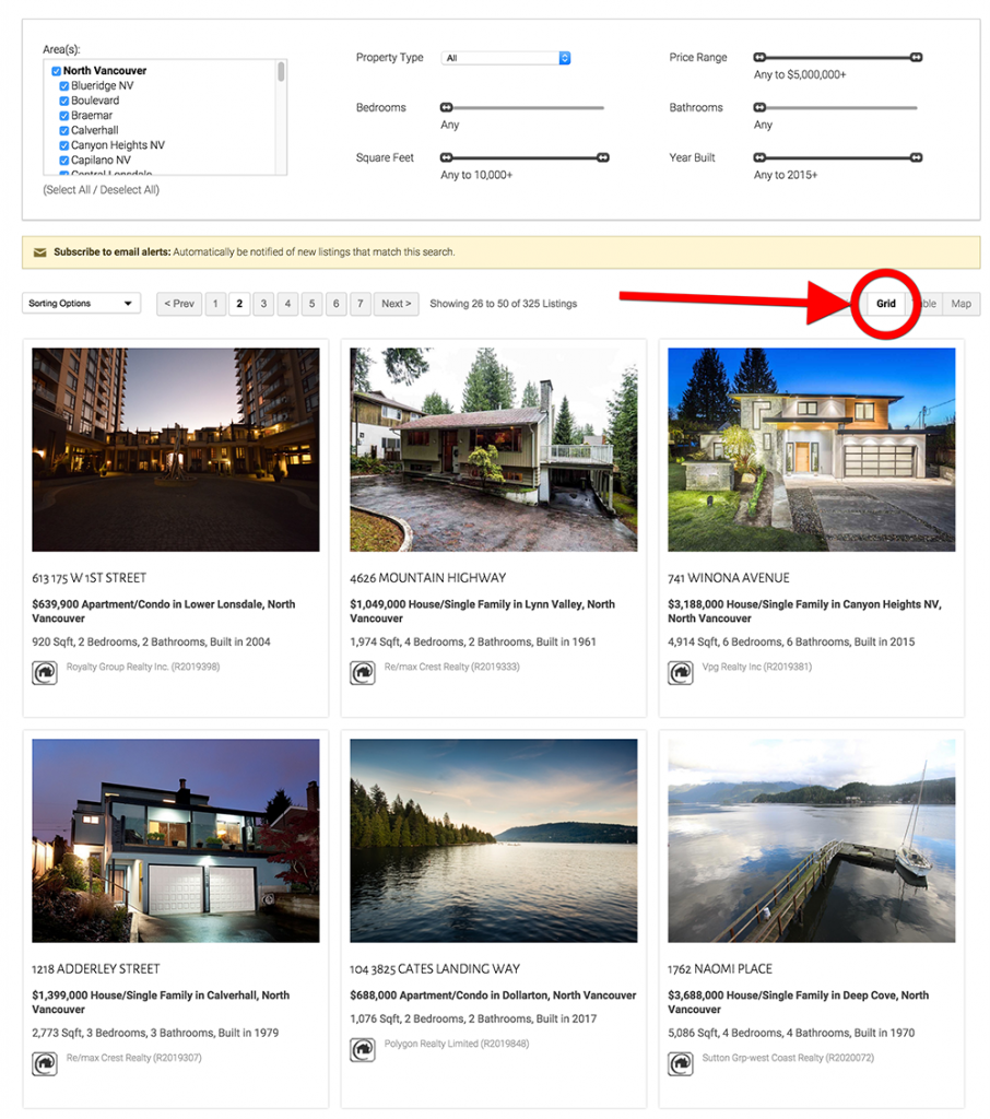 Product Update: MLS Search Grid View Example