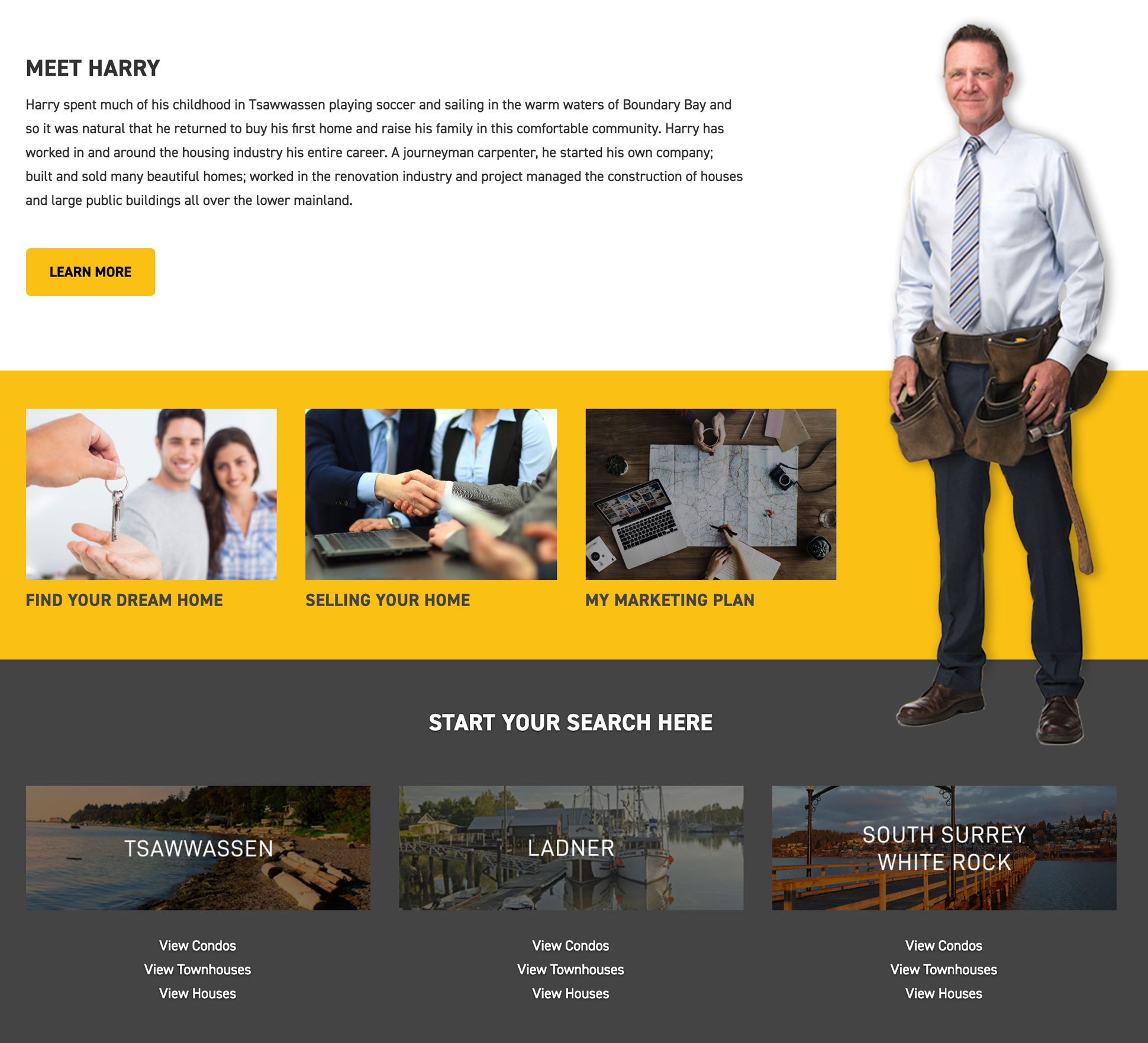 Harry Siempelkamp's real estate website homepage