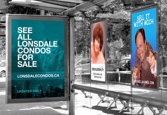 Lonsdale Condos for Sale Realtor® Bus Shelter Ad