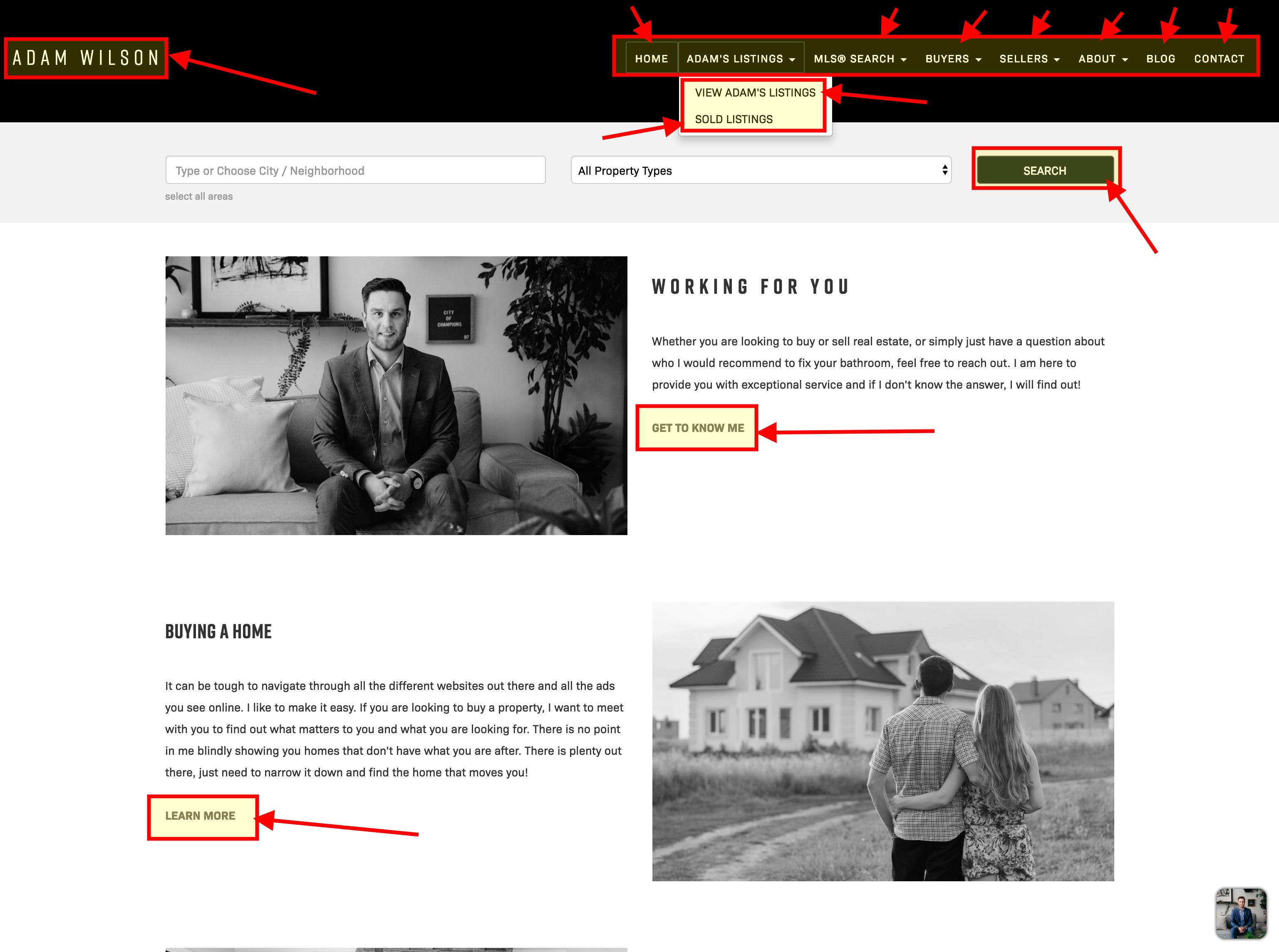 Interlinks on Adam Wilson's RealtyNinja real estate website