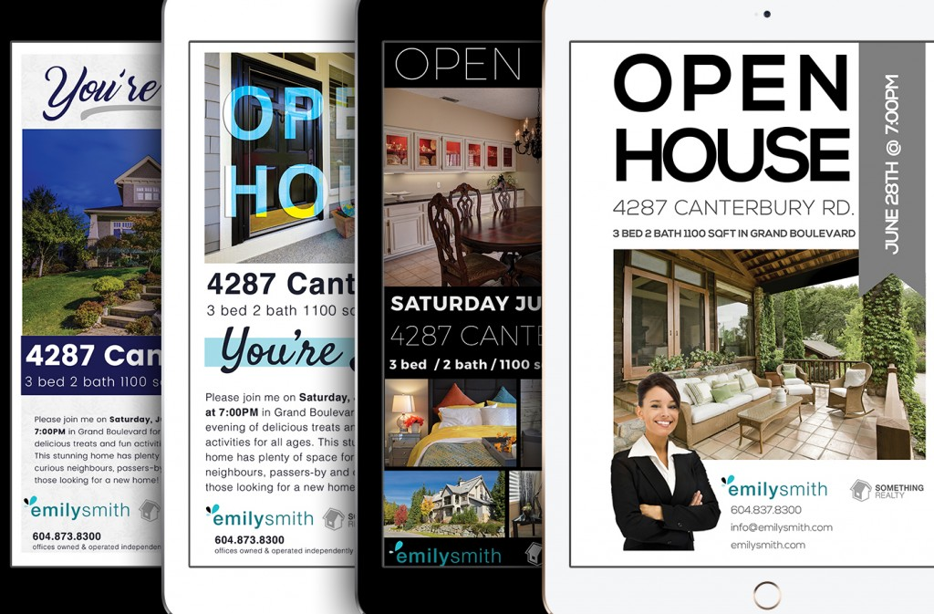 All 4 Open House Invitation Designs - Download Now!