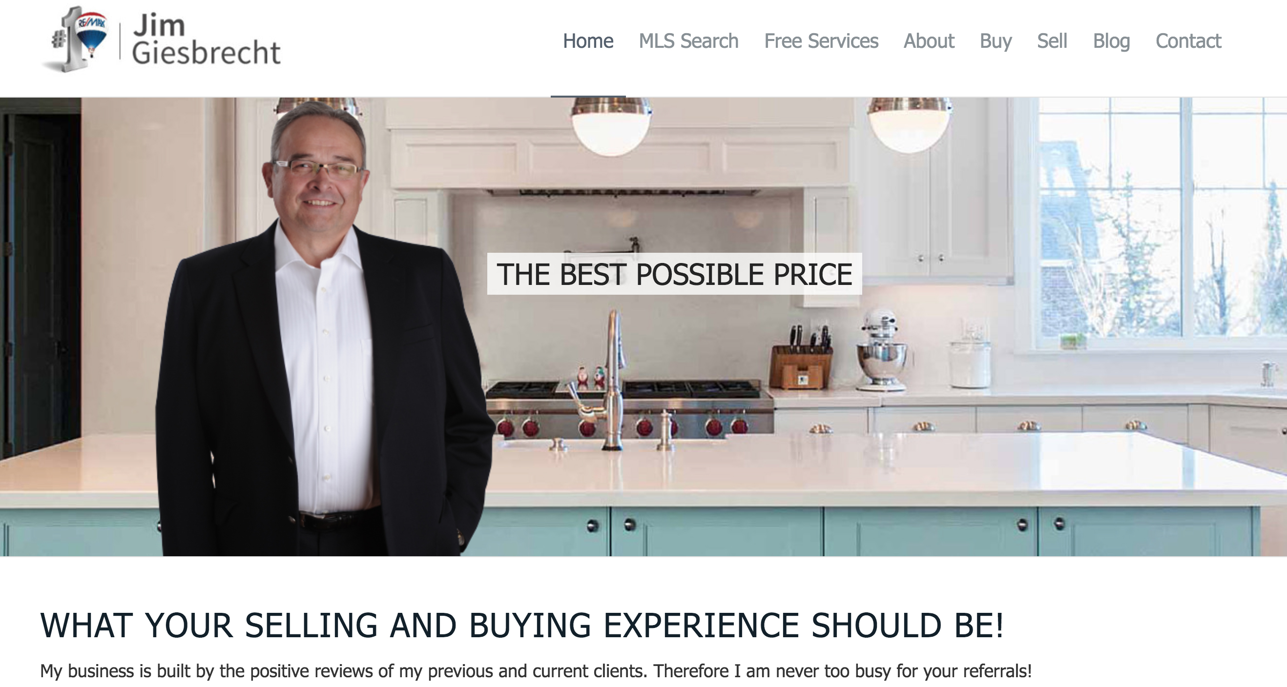Jim Giesbrecht - Langley, Chilliwack, Abbotsford Real Estate Agent Website Homepage