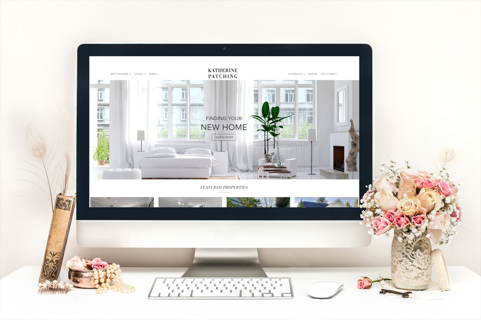 Katherine Patching's Real Estate Website with Design Customization by RealtyNinja