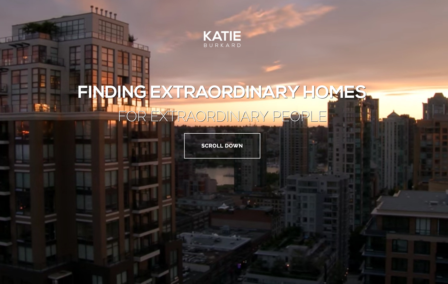 katie burkard real estate website screenshot