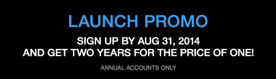 LAUNCH PROMO - 2 years for the price of 1
