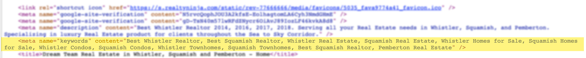 Real Estate Website Meta Tags