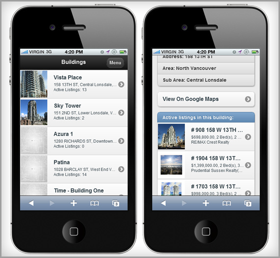 real estate buildings mobile