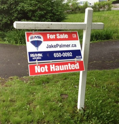 For Sale Sign - Not Haunted