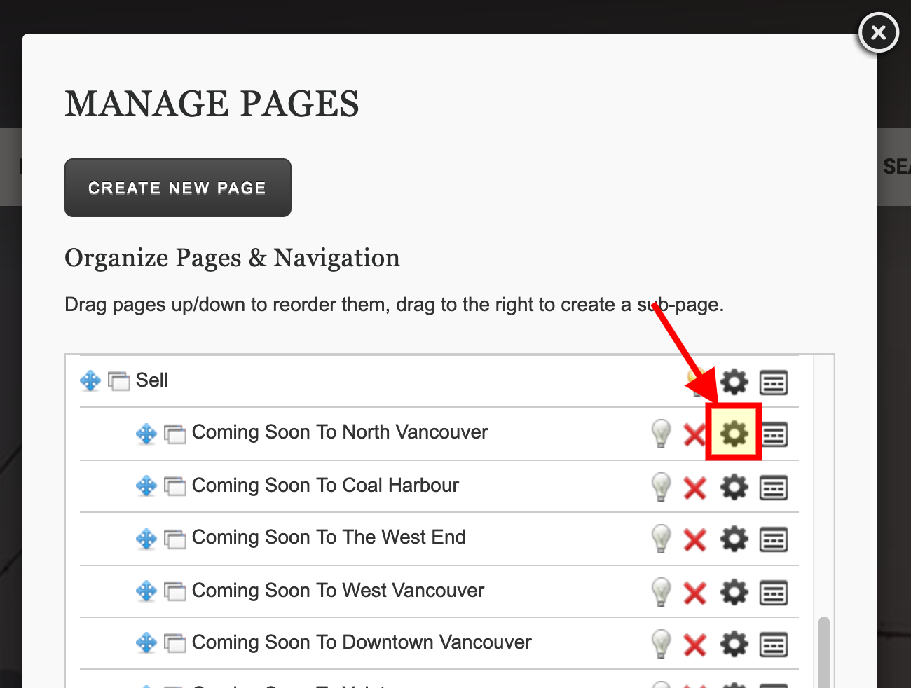 RealtyNinja Page Options