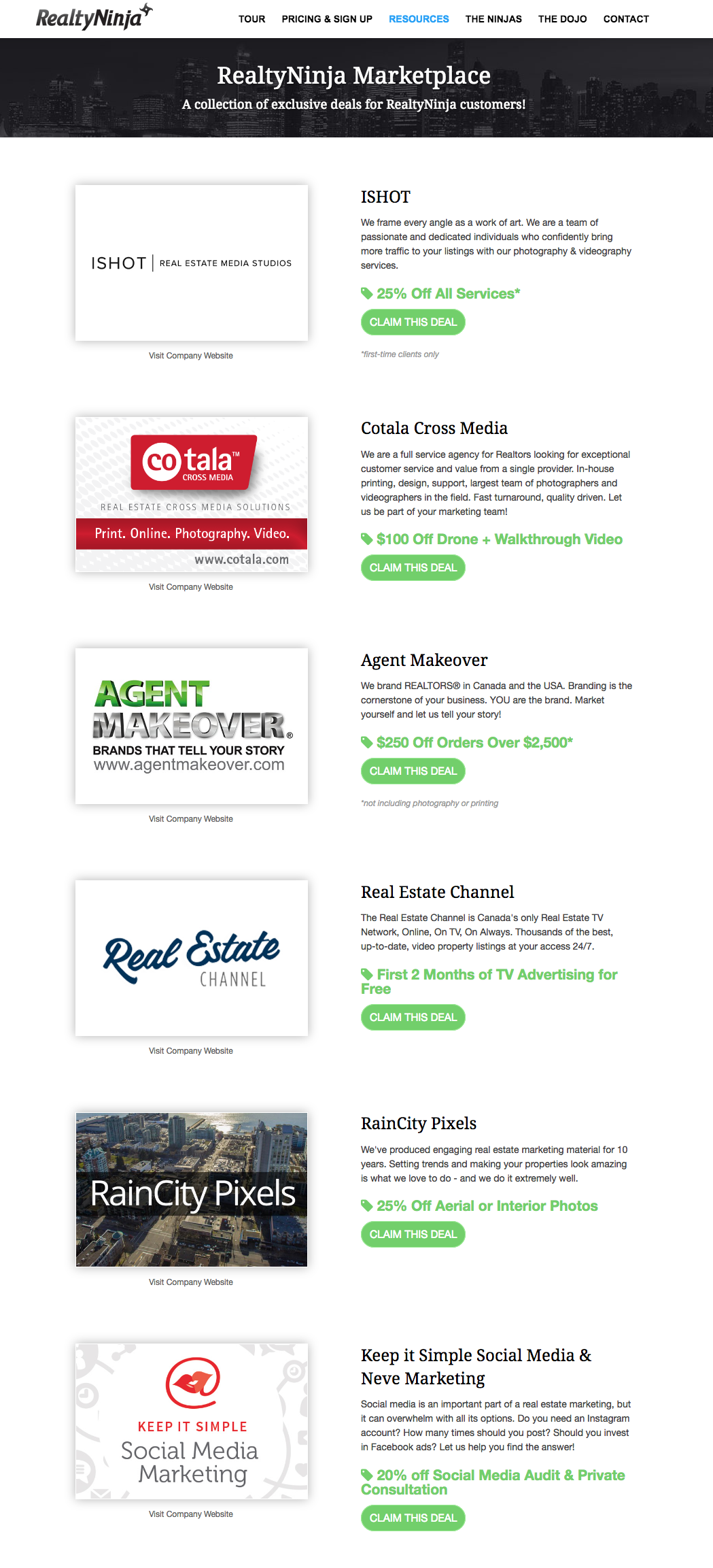 The RealtyNinja Marketplace: Sweet Deals on Stuff REALTORS® Need