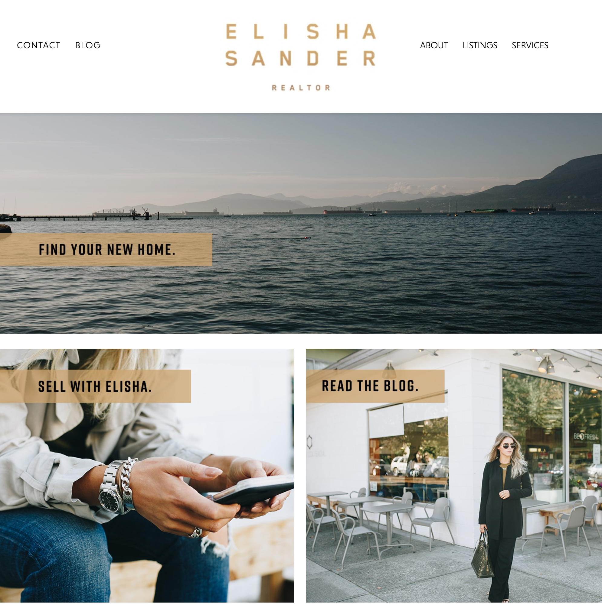 Elisha Sander - Vancouver REALTOR® Website Homepage