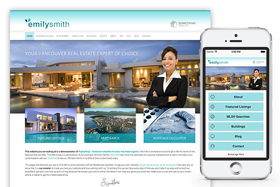 responsive realtor website template